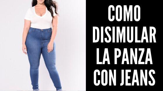 como disimular la panza con jeans